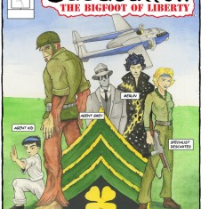 Cover of issue #2 of Sgt. Sasquatch: The Bigfoot of Liberty